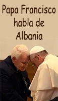 Papa Francisco resume su viaje a Albania