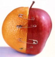 Medias naranjas mujer