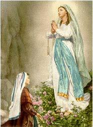 Lourdes, La Virgen de