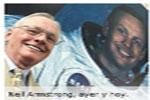 Neil Armstrong valoraba más haber pisado donde pisó Cristo que aquella huella sobre la Luna