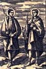 Epimaquio , Alejandro, Amonarión, Mercuria, Dionisia y otra compañera, Santos
