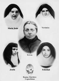El santo de hoy...María Teresa Ferragud Roiq y sus 4 hijas, Ferragud