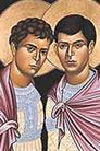 Sergio y Baco, Santos