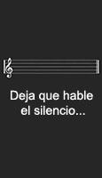 Deja que hable el silencio