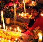 Cuando muere una persona, �hay que rezar el rosario nueve d�as y ponerle un vaso con agua?